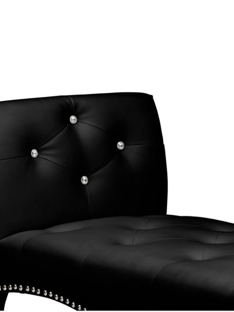 nailhead tufted black leather bench 4 461x614