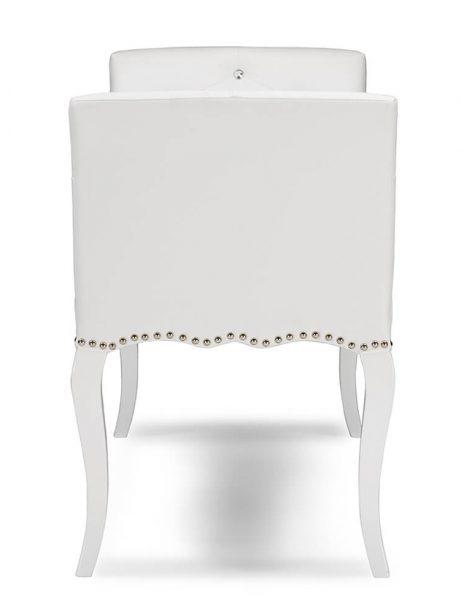 nailhead tufted white leather bench 4 461x614