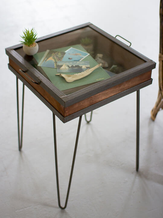 Shadow Box Side Table Modern Furniture Brickell Collection - Shadow box side table
