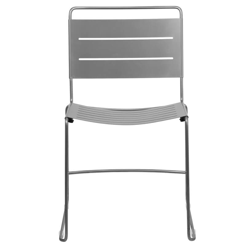 silver metal line chair 2