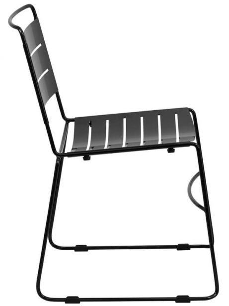 silver metal line chair 461x614