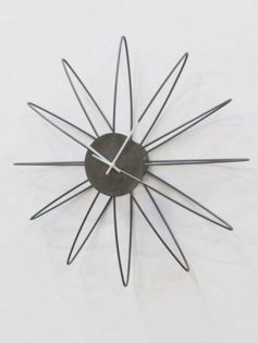silver wire wall clock 237x315