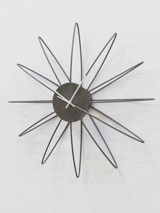 silver wire wall clock