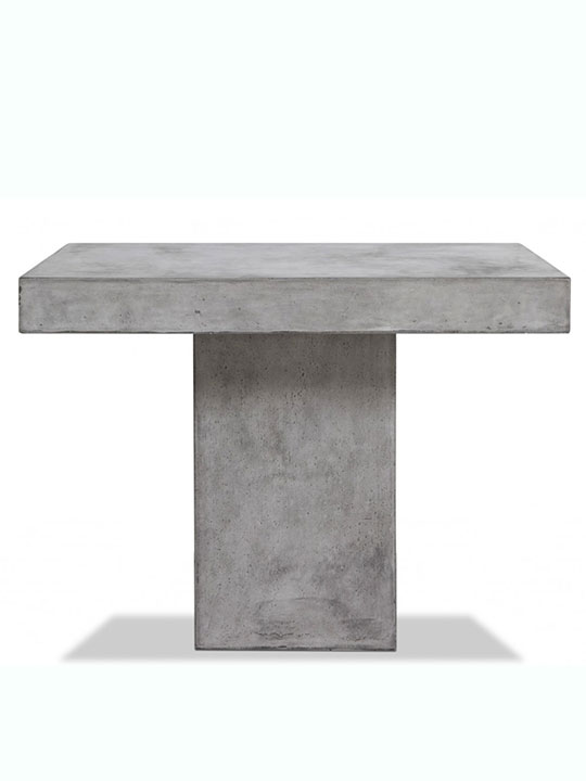 sqaure concrete dining table