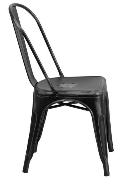 tonic distressed black metal indoor stackable chair 3 461x614