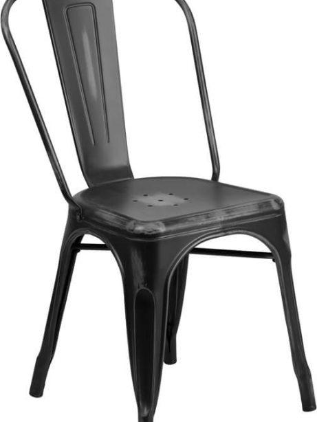 tonic distressed black metal indoor stackable chair 4 461x614