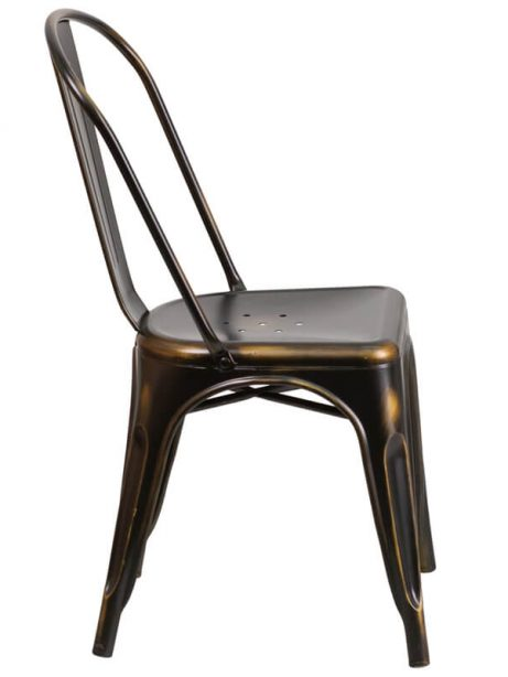 tonic distressed copper metal indoor stackable chair 2 461x614
