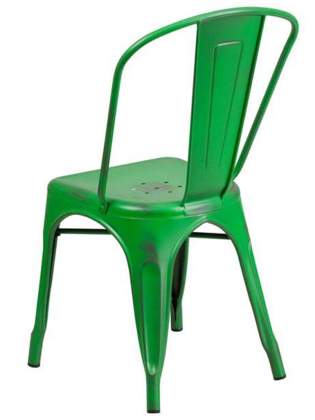 tonic distressed green metal indoor stackable chair 2 461x614