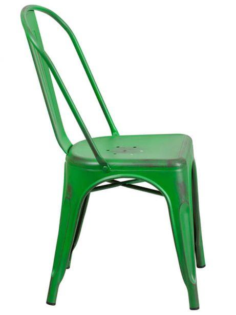 tonic distressed green metal indoor stackable chair 3 461x614