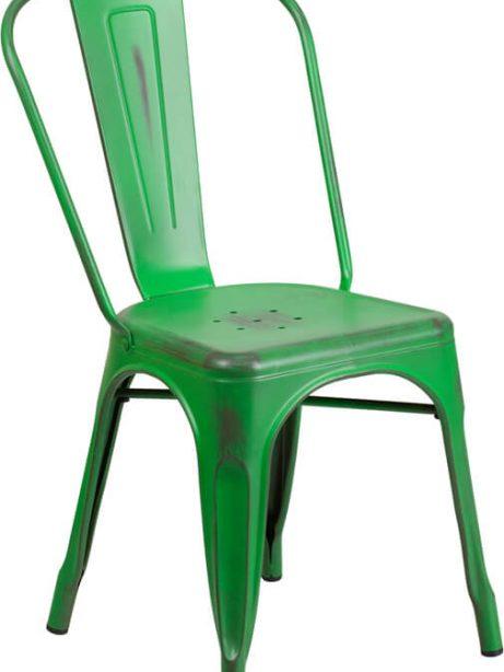tonic distressed green metal indoor stackable chair 4 461x614