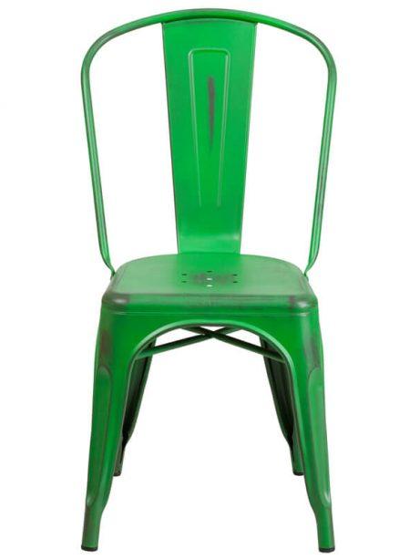 tonic distressed green metal indoor stackable chair 461x614