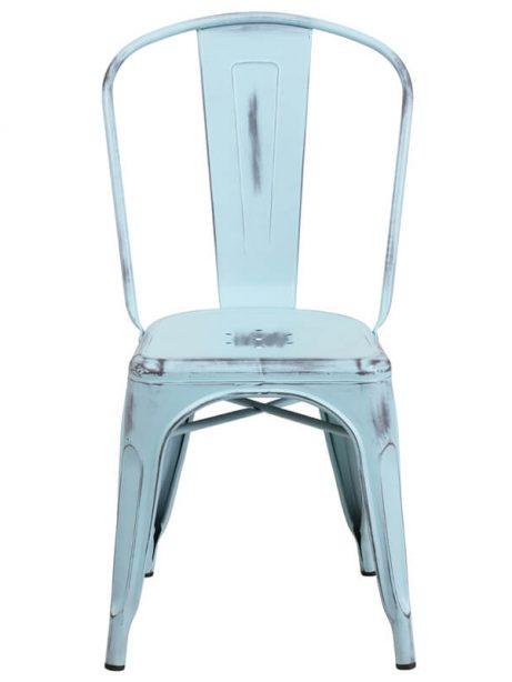 tonic distressed light blue metal indoor stackable chair 461x614