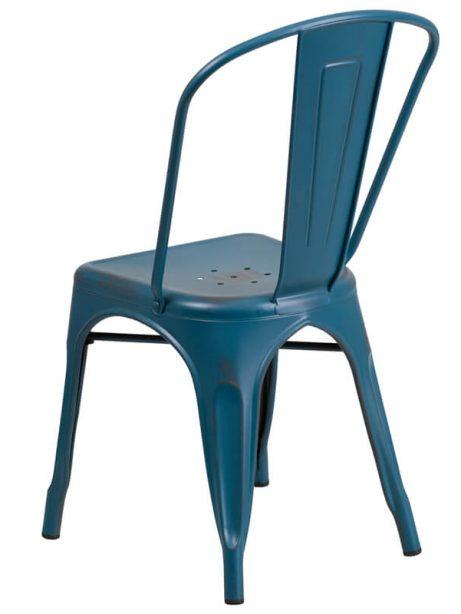 tonic distressed navy blue metal indoor stackable chair 2 461x614