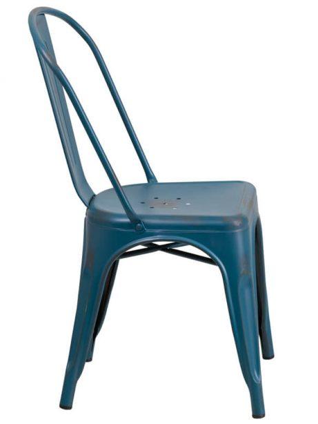 tonic distressed navy blue metal indoor stackable chair 3 461x614