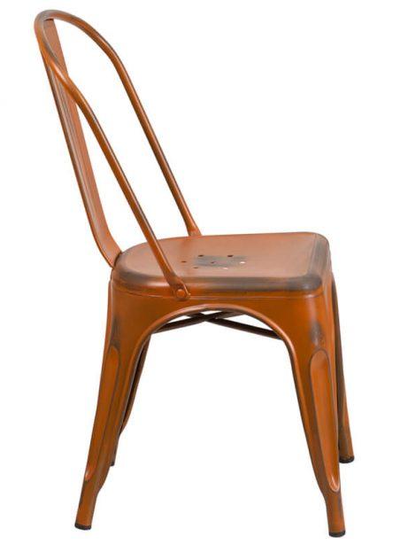 tonic distressed orange metal indoor stackable chair 2 461x614