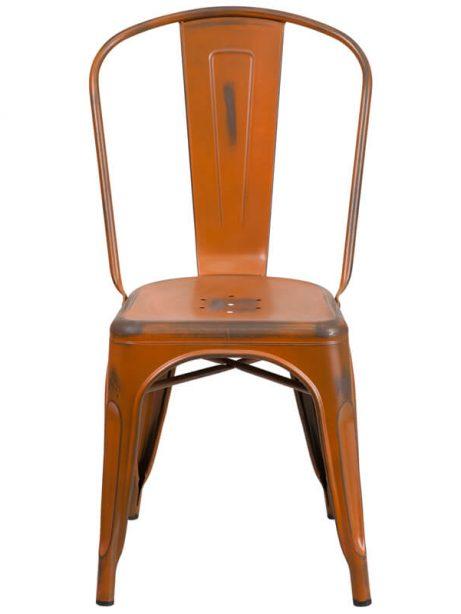 tonic distressed orange metal indoor stackable chair 461x614