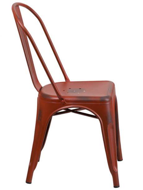 tonic distressed red metal indoor stackable chair 2 461x614