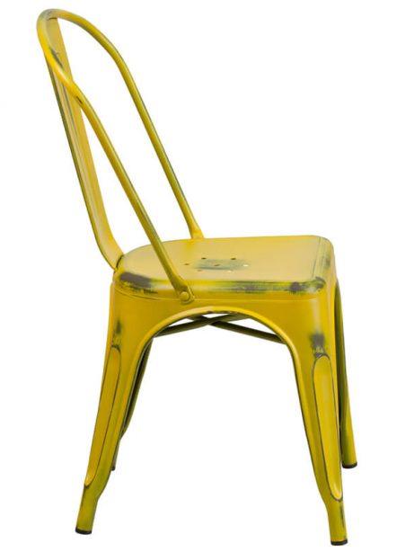 tonic distressed yellow metal indoor stackable chair 2 461x614