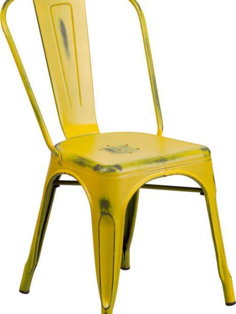 tonic distressed yellow metal indoor stackable chair 3 461x614