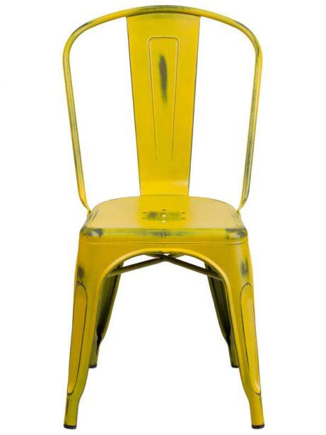 tonic distressed yellow metal indoor stackable chair 461x614