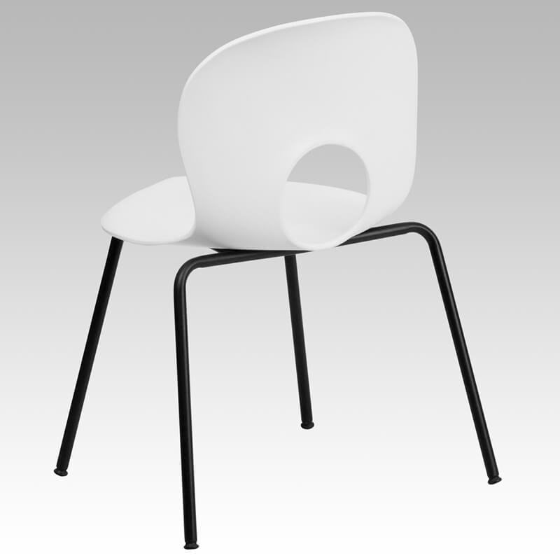 white circle cut out chair 2