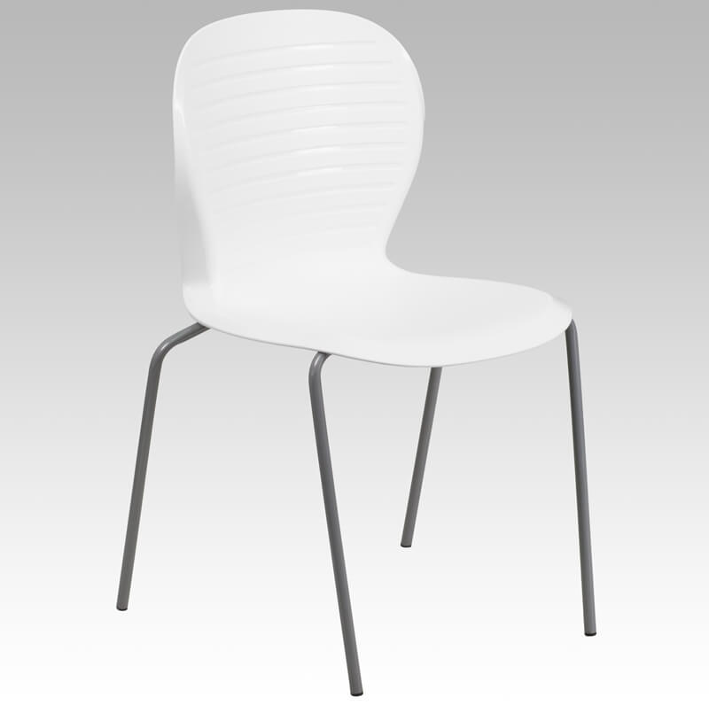 white curved back chair