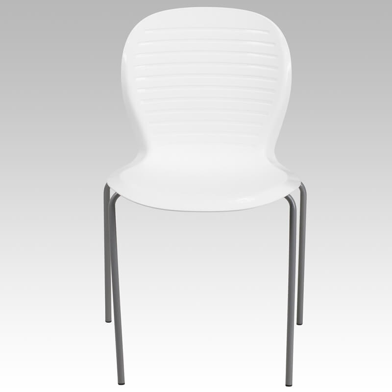white wave chair