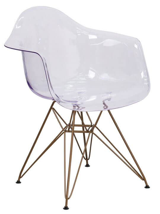Ceremony Clear Gold Wire Armchair 1