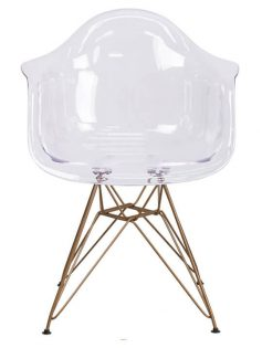 Ceremony Clear Gold Wire Armchair 237x315