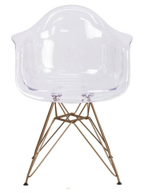 Ceremony Clear Gold Wire Armchair 461x614