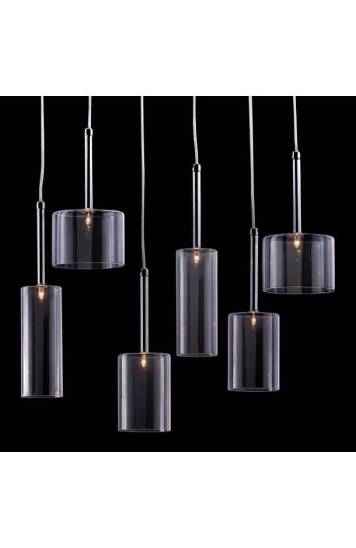 Clear Glass Modern Multi Pendant Light 2