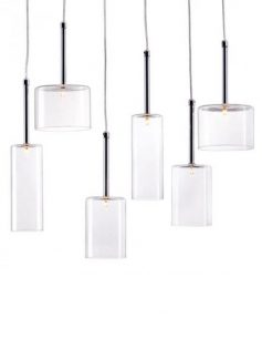 Clear Glass Modern Multi Pendant Light 4 237x315
