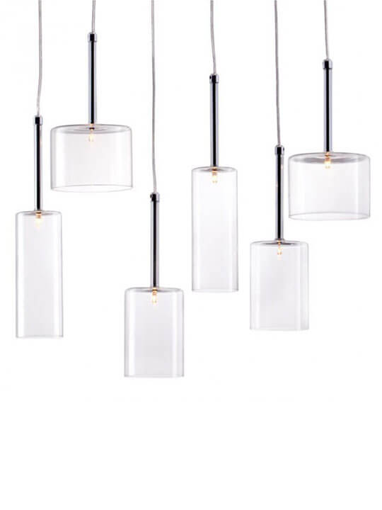 Clear Glass Modern Multi Pendant Light 4