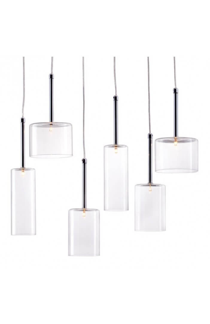 Clear Glass Modern Multi Pendant Light