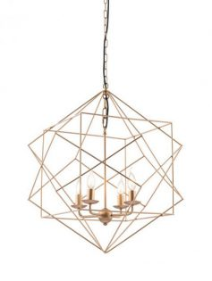 Geo Gold Wire Pendant Light  237x315