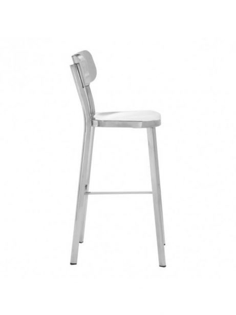 Metallic Chrome Barstool 1 461x614