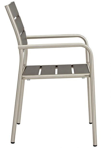 Modern Outdoor Aluminum Wood Armchair 2 461x614