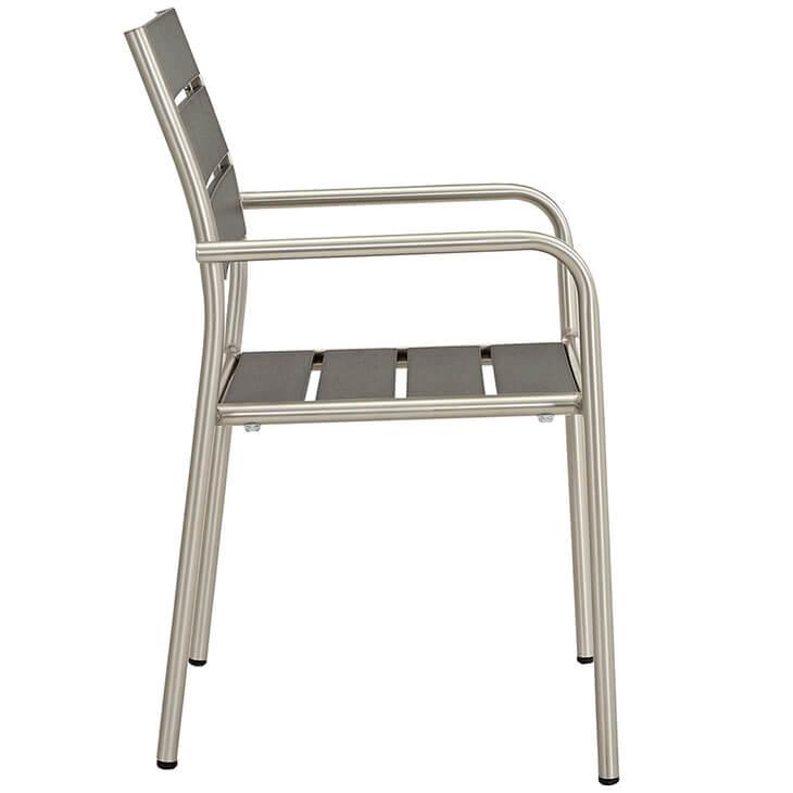 Modern Outdoor Aluminum Wood Armchair 2