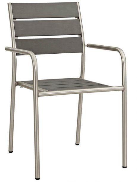 Modern Outdoor Aluminum Wood Armchair 3 461x614