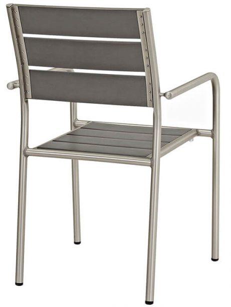 Modern Outdoor Aluminum Wood Armchair 461x614