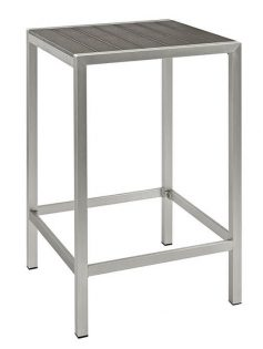 Modern Outdoor Aluminum Wood Bar Table 237x315