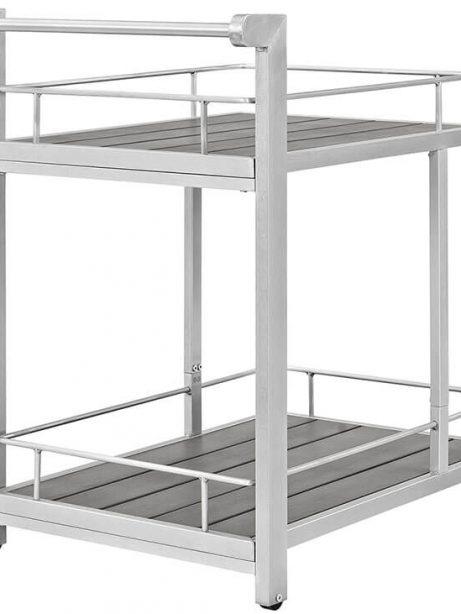 Modern Outdoor Aluminum Wood Cart 461x614