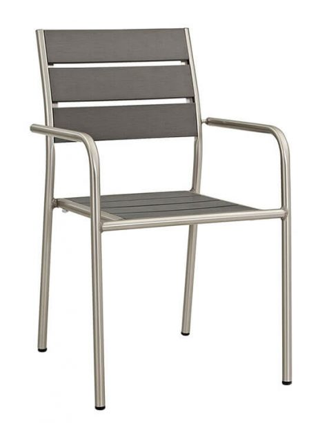 Modern Outdoor Aluminum Wood Chair 461x614