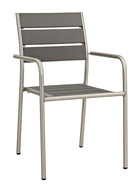 Modern Outdoor Aluminum Wood Chair