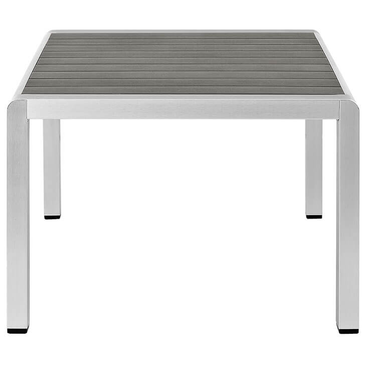Modern Outdoor Aluminum Wood Coffee Table 1