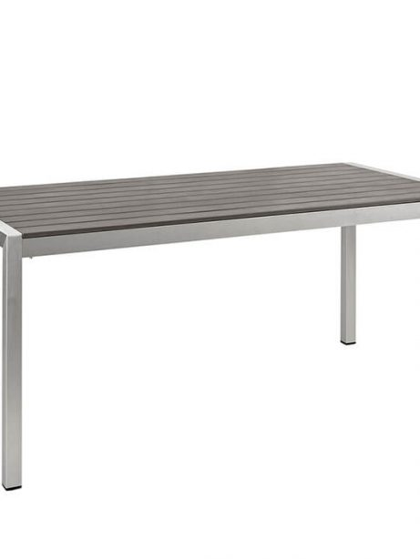 Modern Outdoor Aluminum Wood Dining Table 3 461x614