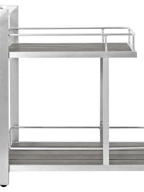 Modern Outdoor Aluminum Wood Rolling Bar Cart 461x614