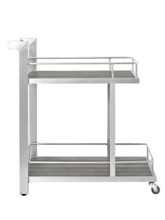 Modern Outdoor Aluminum Wood Rolling Cart 1 237x315