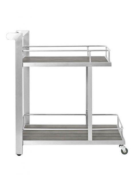 Modern Outdoor Aluminum Wood Rolling Cart 1 461x614