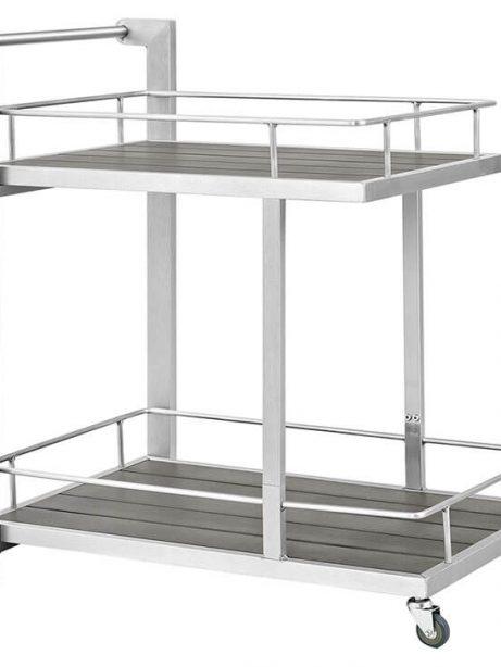 Modern Outdoor Aluminum Wood Rolling Cart 461x614